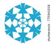 snowflake. blue snowflake on... | Shutterstock .eps vector #770341018