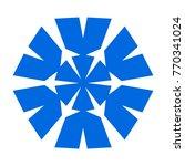 snowflake. blue snowflake on... | Shutterstock .eps vector #770341024