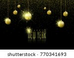 happy new year background with... | Shutterstock .eps vector #770341693