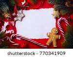 christmas greeting card ... | Shutterstock . vector #770341909