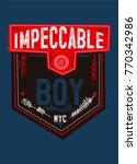 new york impeccable boy t shirt ... | Shutterstock .eps vector #770342986