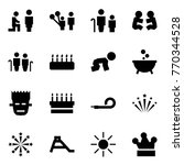 origami style icon set   marry... | Shutterstock .eps vector #770344528