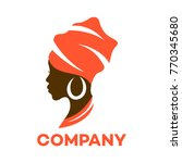 beautiful african woman logo | Shutterstock .eps vector #770345680