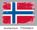 grunge norway flag.vector flag... | Shutterstock .eps vector #770346814