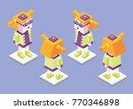 character  girl  isometry ... | Shutterstock .eps vector #770346898