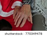 close up view of a old couple... | Shutterstock . vector #770349478