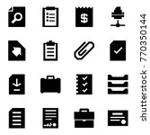 origami style icon set   search ... | Shutterstock .eps vector #770350144