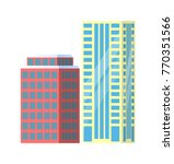 set of city buildings icons...   Shutterstock .eps vector #770351566