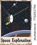 space exploration. stylization... | Shutterstock .eps vector #770351794