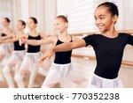 young ballerinas rehearsing in... | Shutterstock . vector #770352238