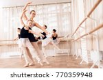 the trainer of the ballet...   Shutterstock . vector #770359948