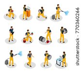 isometric auto service people... | Shutterstock .eps vector #770360266