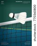 badminton championship poster... | Shutterstock .eps vector #770360800