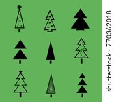 christmas tree with decorations ...   Shutterstock .eps vector #770362018