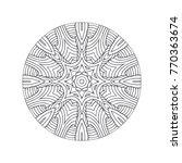 vector beautiful hand drawn... | Shutterstock .eps vector #770363674