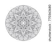 vector beautiful hand drawn... | Shutterstock .eps vector #770363680
