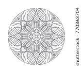 vector beautiful hand drawn... | Shutterstock .eps vector #770363704