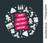 christmas and new year vector... | Shutterstock .eps vector #770364094