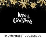 gold christmas background... | Shutterstock .eps vector #770365108