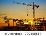 house building sunset | Shutterstock . vector #770365654