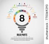 vector illustration of bulb... | Shutterstock .eps vector #770369293