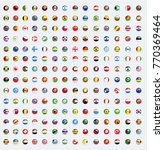 world flags rounded buttons.... | Shutterstock .eps vector #770369464