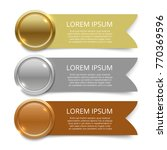 gold  silver and bronze medals... | Shutterstock .eps vector #770369596