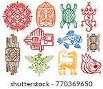 colorful ancient mexican vector ... | Shutterstock .eps vector #770369650