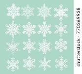 group of new design of snow...   Shutterstock .eps vector #770369938