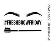 beauty eyebrows  brush for...   Shutterstock .eps vector #770371900