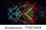 abstract technological... | Shutterstock . vector #770373649