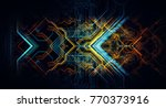 abstract technological... | Shutterstock . vector #770373916