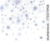 snowflake macro vector... | Shutterstock .eps vector #770375908