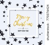 merry christmas and happy new... | Shutterstock .eps vector #770376424