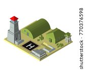 isometric. military base with... | Shutterstock .eps vector #770376598