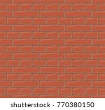 seamless vector brick wall... | Shutterstock .eps vector #770380150