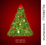merry christmas and new year... | Shutterstock .eps vector #770380756