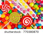 multicolored candy background | Shutterstock . vector #770380870