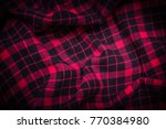 Small photo of Close-up background of plaid with vignetting