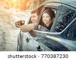 happiness caucasian smilling... | Shutterstock . vector #770387230