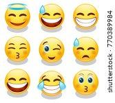 emoji smiley face vector design ... | Shutterstock .eps vector #770389984