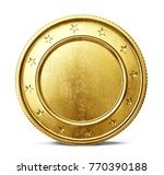 gold coin sign isolated on a... | Shutterstock . vector #770390188