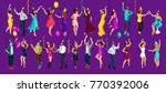 isometry celebratory party  3d... | Shutterstock .eps vector #770392006