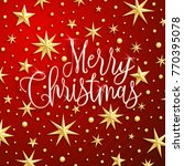 christmas greeting card with... | Shutterstock .eps vector #770395078