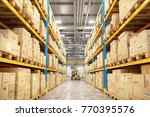 concept of warehouse. the... | Shutterstock . vector #770395576
