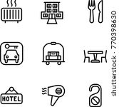 travel hotel icon | Shutterstock .eps vector #770398630