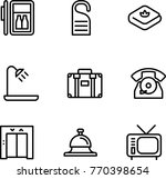 travel hotel icon | Shutterstock .eps vector #770398654