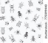 cartoon doodle beetles insects... | Shutterstock .eps vector #770399440