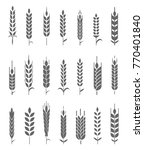 wheat ears icons and logo set.... | Shutterstock . vector #770401840