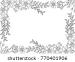 flower frame coloring book for... | Shutterstock .eps vector #770401906
